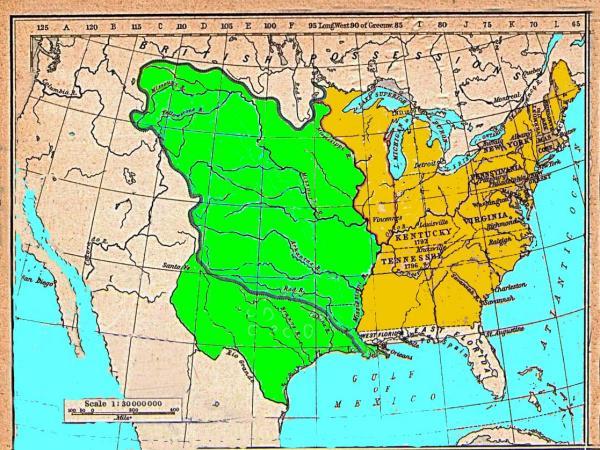 Historial Maps Louisiana - Louisiana map usa